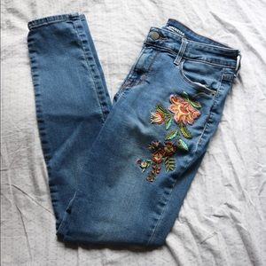 Old Navy Floral Embroidered Skinny Jeans